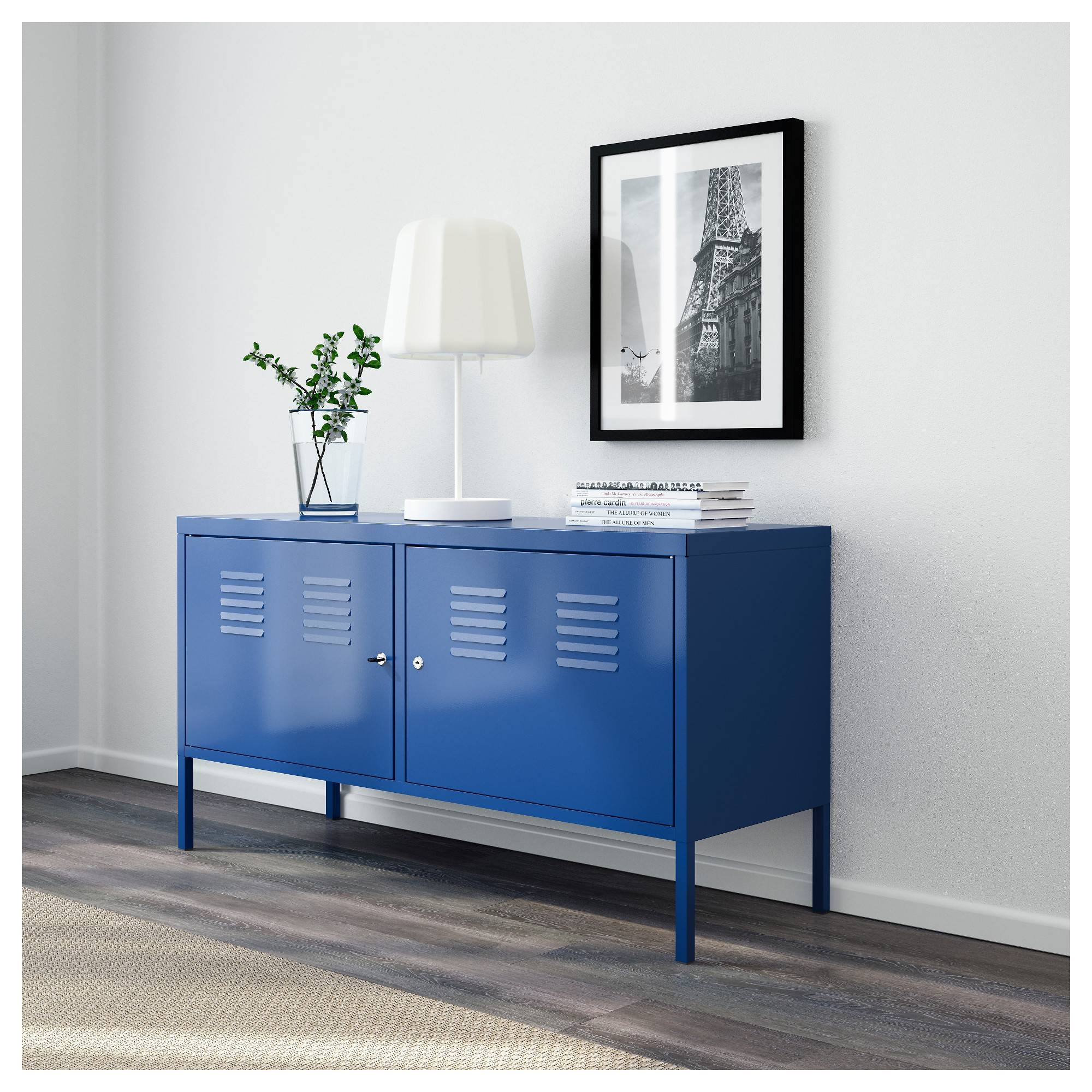 Ikea Ps Cabinet Blue 119X63 Cm - Ikea for Blue Sideboards (Image 4 of 15)