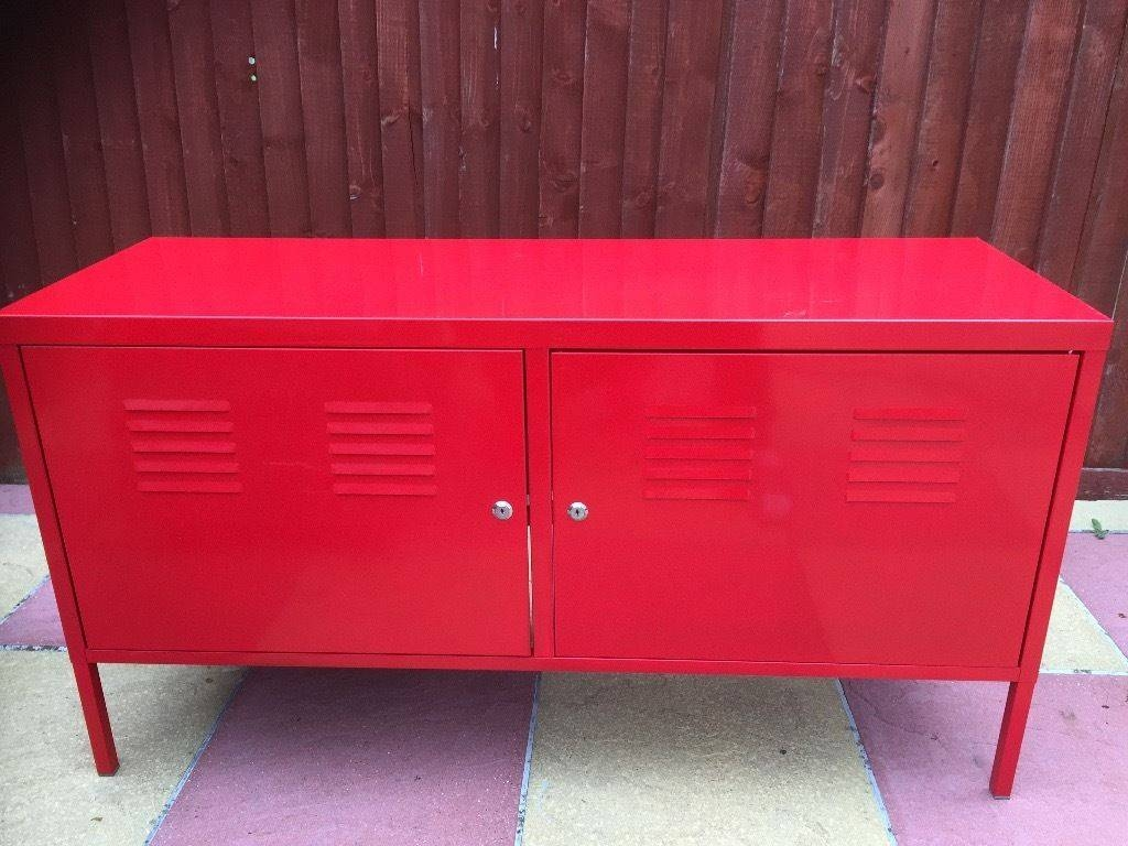 Ikea Ps Tv Cabinet Stand Red Good Condition Sideboard Bench Office for Ikea Red Sideboards (Image 10 of 15)