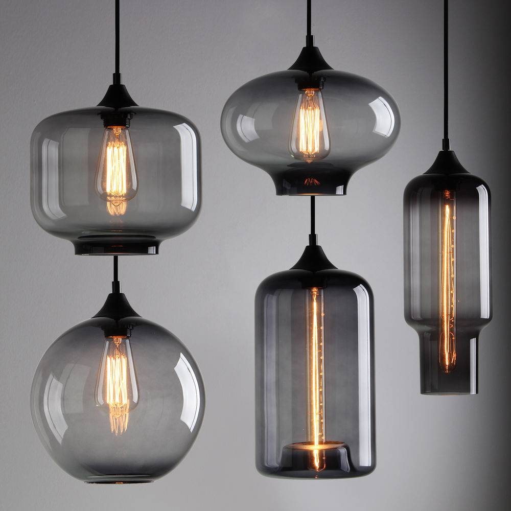 Industrial Glass Pendant Lighting Pergola Outdoor Light Home regarding Industrial Glass Pendant Lights (Image 6 of 15)