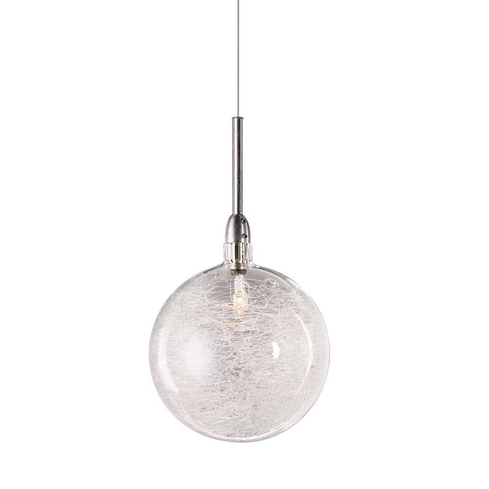 Inspirational Mini Glass Pendant Lights In Large Globe With Round intended for Round Glass Pendant Lights (Image 7 of 15)