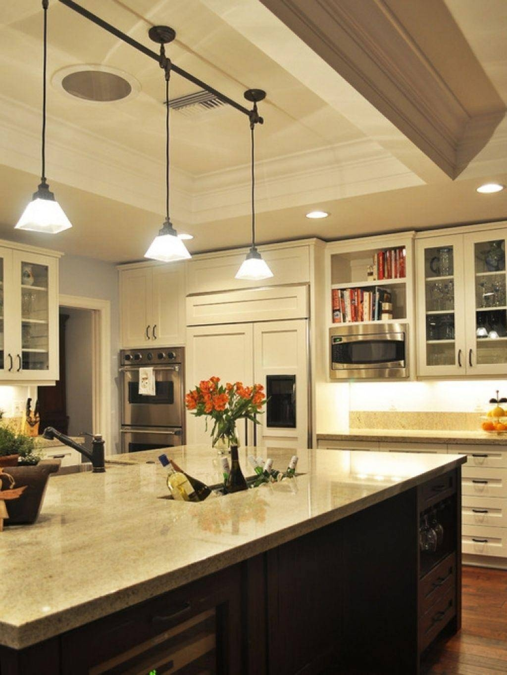Inspiring Kitchen Island Track Lighting About Interior Decorating With Kitchen Track Pendant Lighting (View 8 of 15)