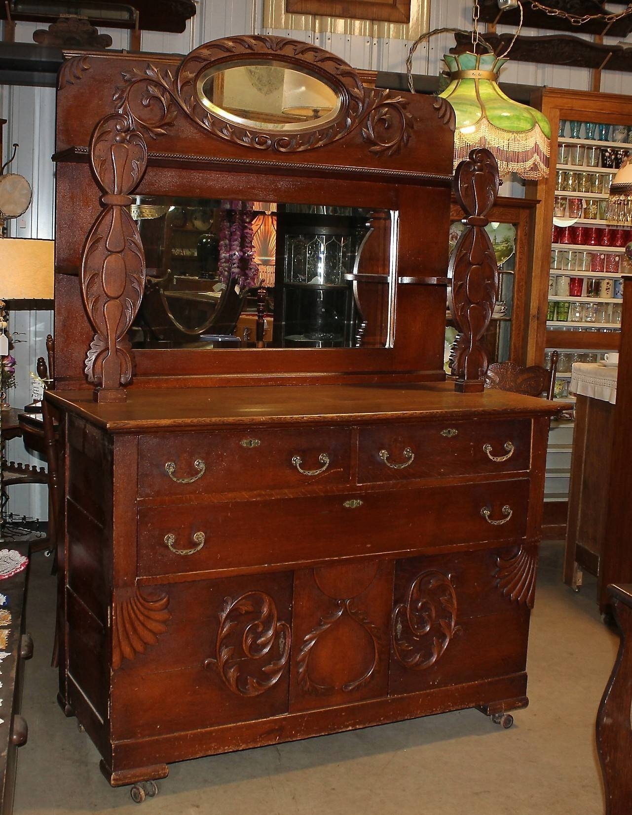 Jeanne's Antiques Crofton Nebraska with regard to Antique Sideboards With Mirror (Image 6 of 15)