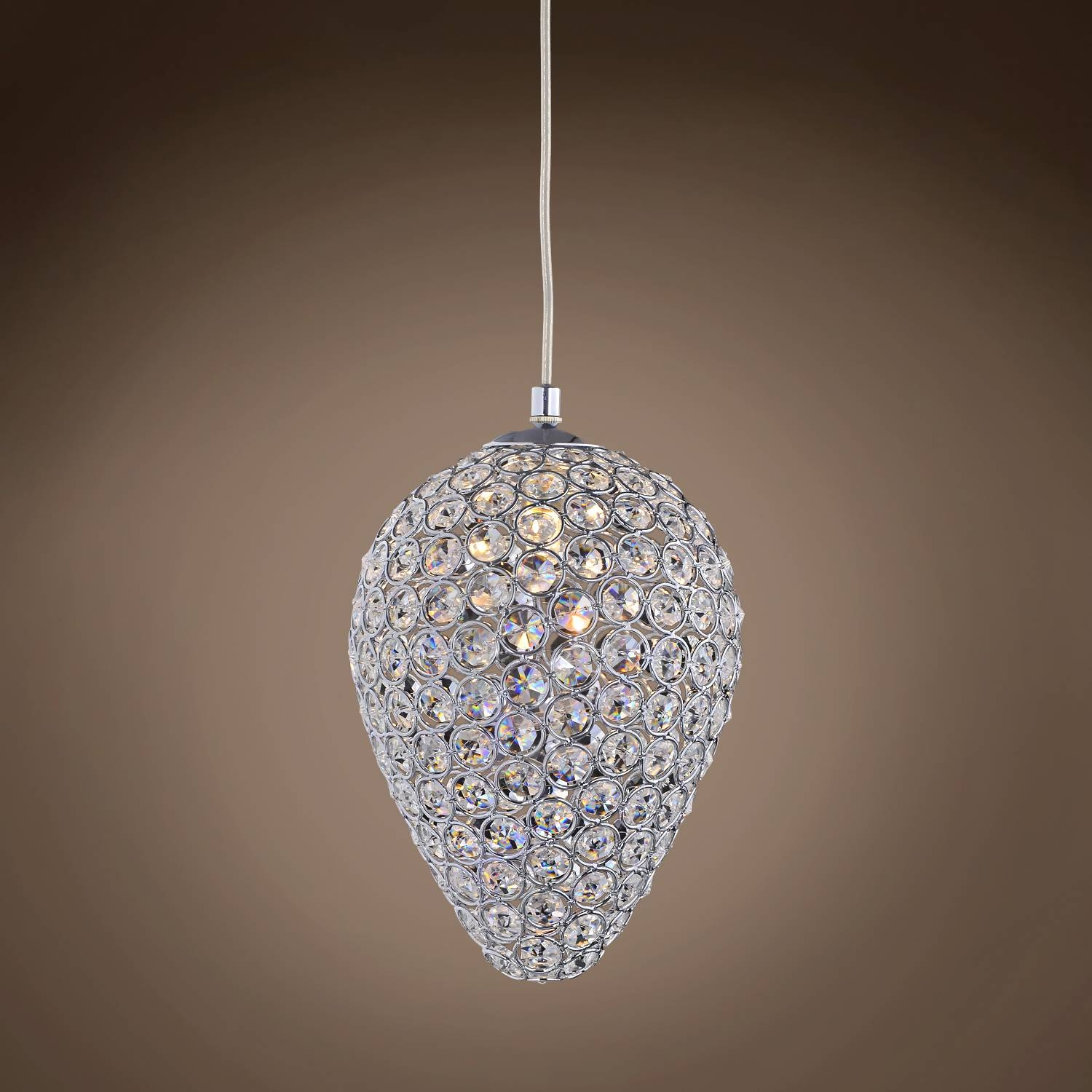 "Joshua Marshal Limited Edition 1 Light 6"" Teardrop Crystal Mini inside Crystal Teardrop Pendant Lights (Image 8 of 15)"
