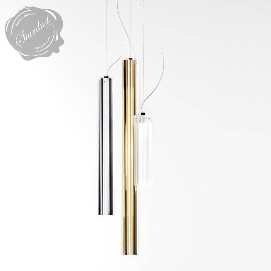 Kartell Rifly™ Crystal Modern Long Pendant Lamp With 8W/led Light With Long Pendant Lighting (Photo 1 of 15)