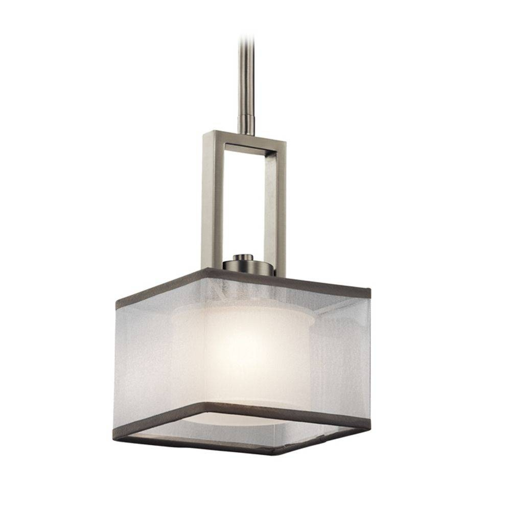 Kichler Lighting Kailey Brushed Nickel Mini-Pendant Light With for Square Pendant Light Fixtures (Image 10 of 15)