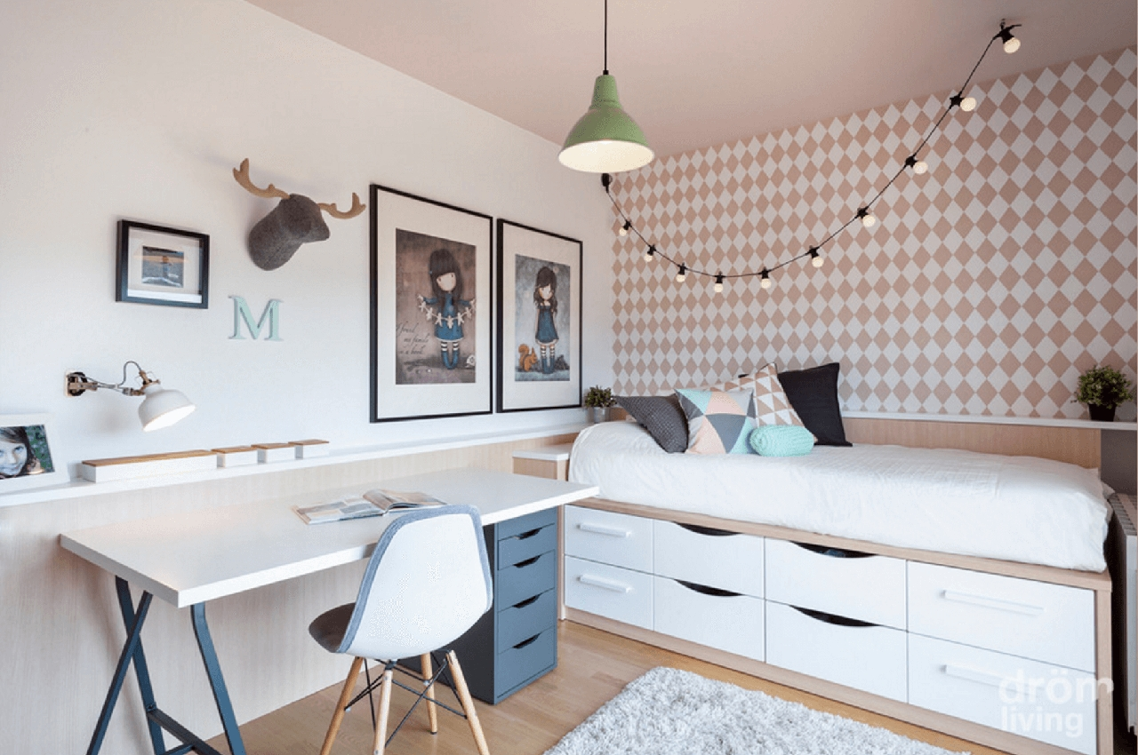 Kids Room Neutral Based Kids Room Features Diamond Removable For Kids Room Pendant Lights (View 13 of 15)