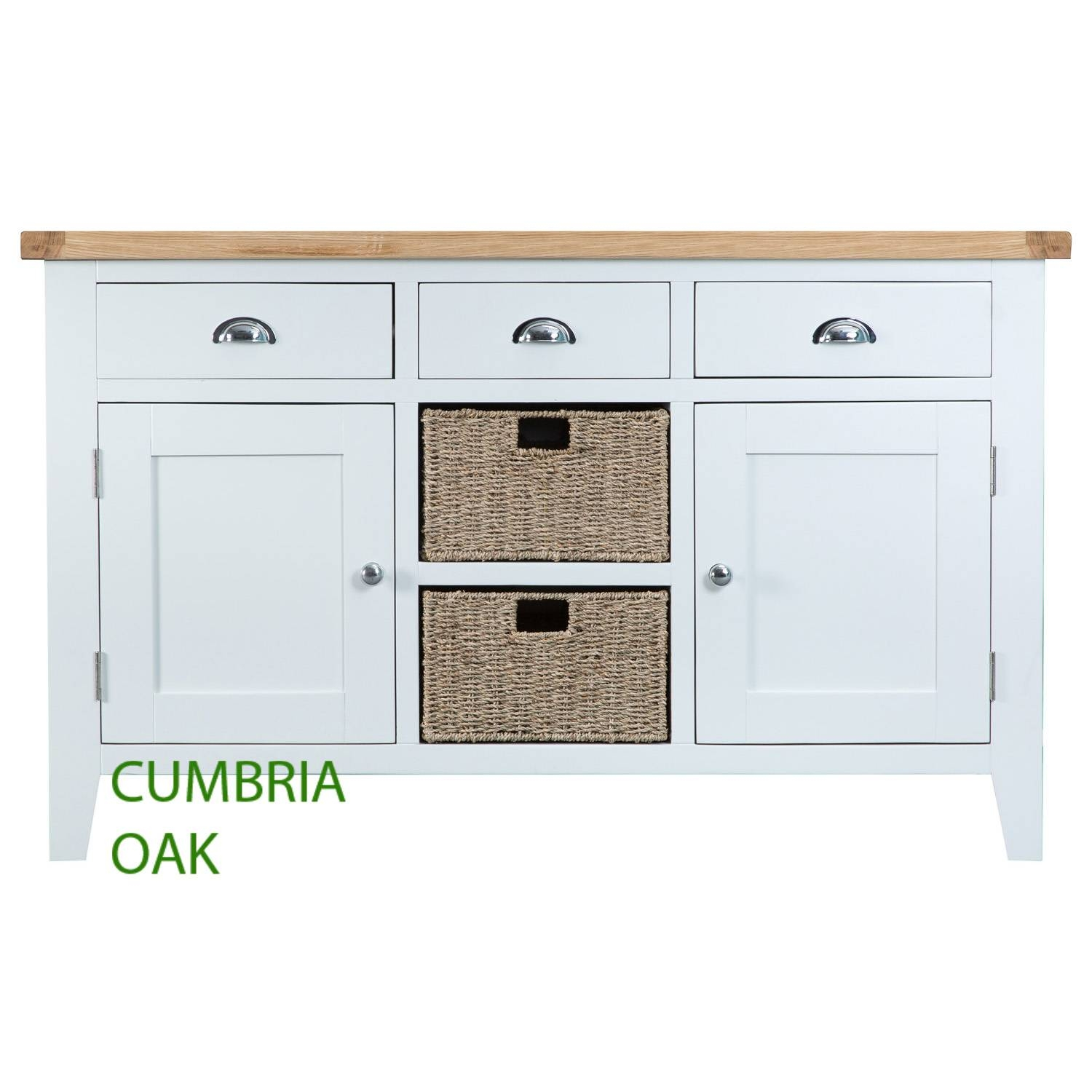 Kirkstone Oak Large Sideboard – Cumbria Oak For Off White Sideboards (View 3 of 15)