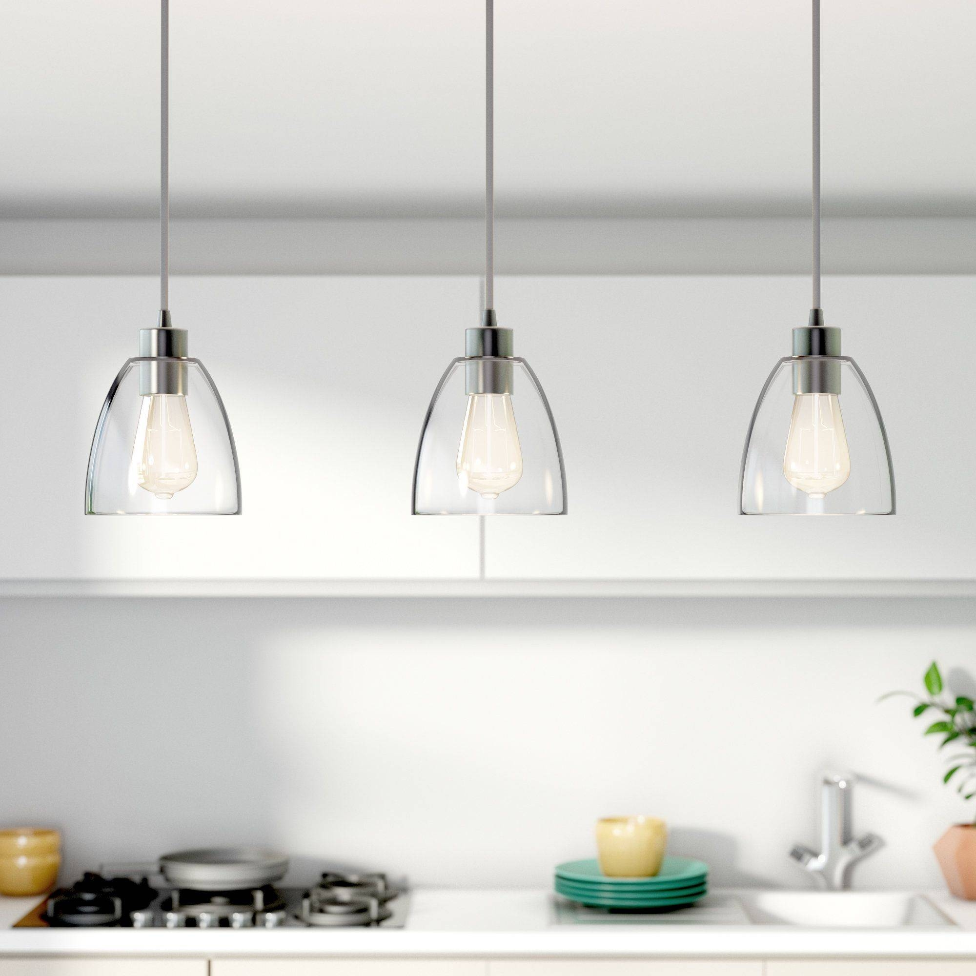 Kitchen : 3 Light Pendant Island Kitchen Lighting Best Pendant Pertaining To 3 Light Pendants For Island Kitchen Lighting (View 7 of 15)