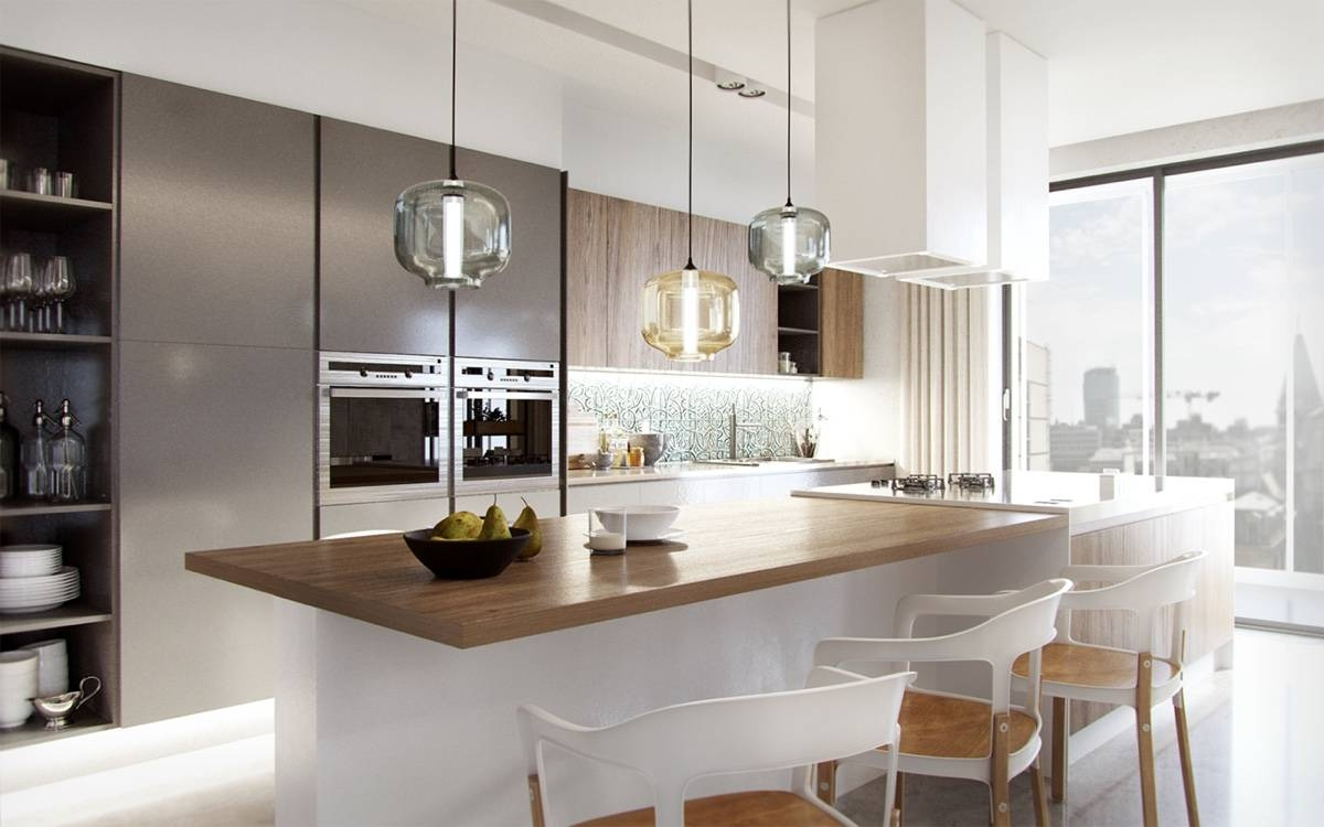 Kitchen : Breathtaking Cool Blown Glass Kitchen Pendants Intended For Glass Kitchen Pendant Lights (View 5 of 15)