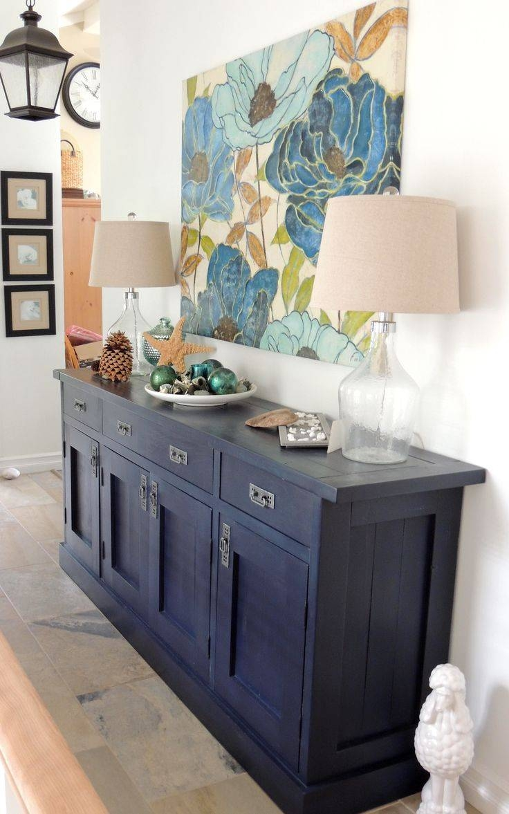 Kitchen Design Ideas : Blue Buffet Cabinet Kitchen Buffet Cabinet Regarding Blue Buffet Sideboards (Photo 12 of 15)