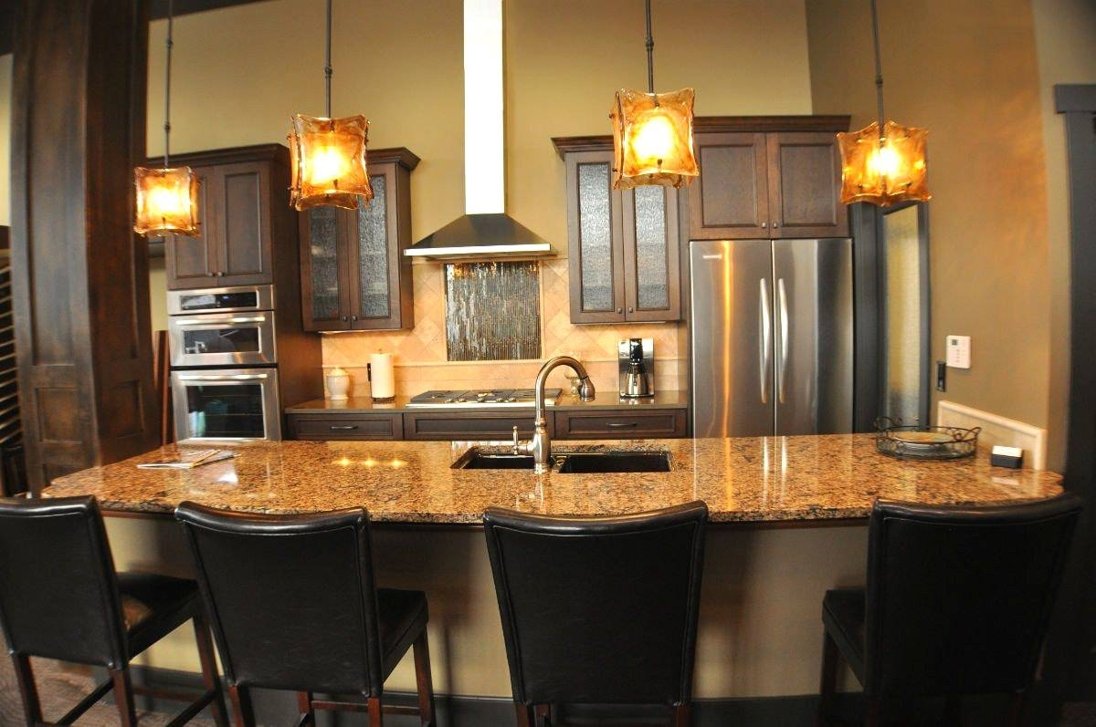 Kitchen Design : Magnificent Farmhouse Chandelier Hanging Kitchen Pertaining To Rustic Pendant Lighting For Kitchen (Gallery 14 of 15)