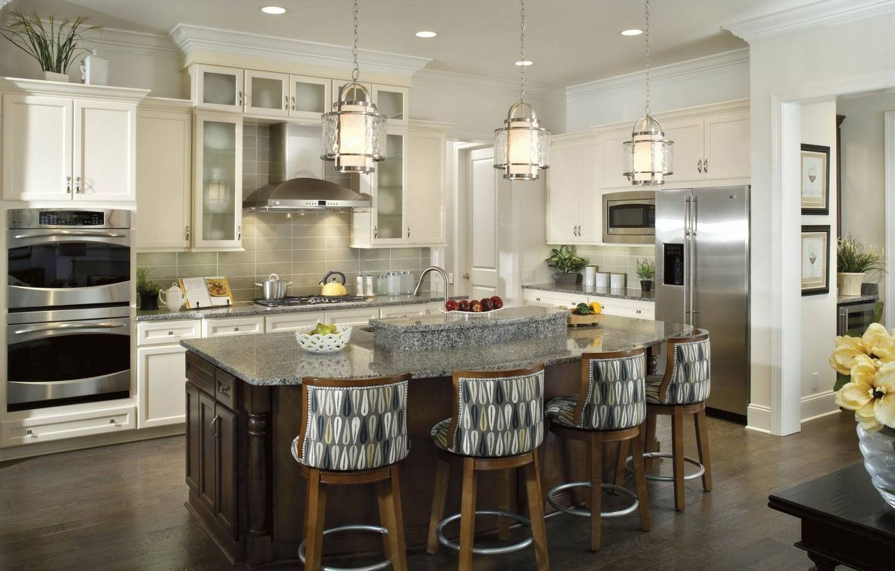 Kitchen : Enchanting Look With Pendant Lights For Kitchen Islands pertaining to Silver Kitchen Pendant Lighting (Image 3 of 15)