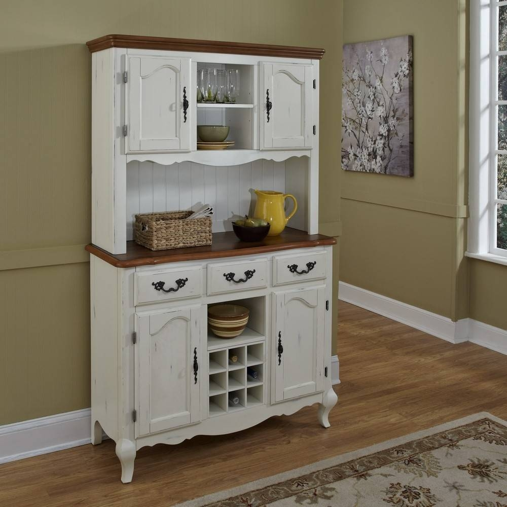 Kitchen Hutches For Sale Kitchen Hutch Ideas Two Tone Buffet Hutch inside Country Sideboards And Hutches (Image 1 of 15)