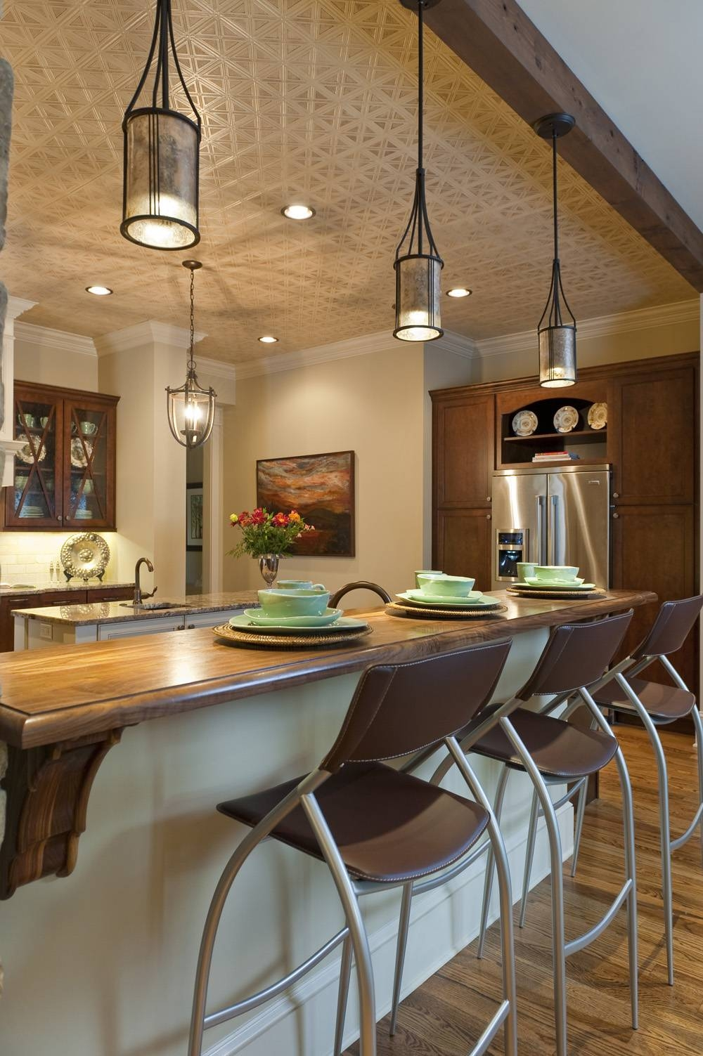 Kitchen Ideas: Chandelier Pendant Lights For Kitchen Island With Regard To Drop Pendant Lights For Kitchen (Photo 10 of 15)