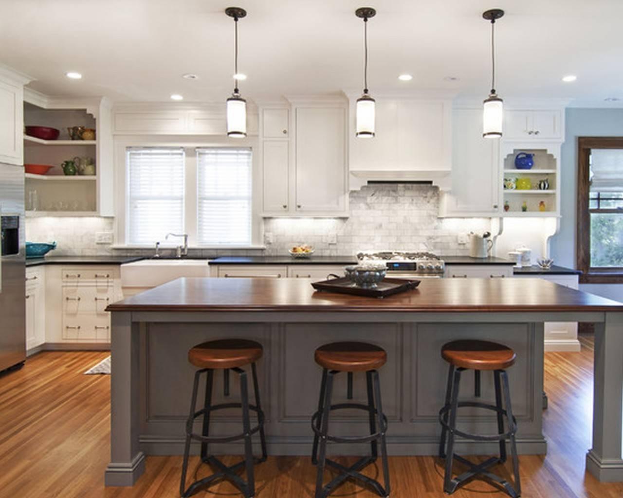 Kitchen Island Pendant Lighting White : Kitchen Island Pendant With Glass Kitchen Pendant Lights (View 6 of 15)