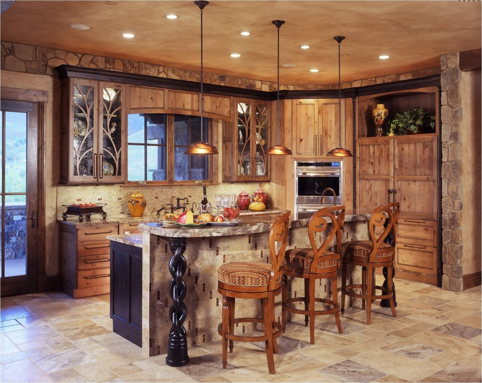 Kitchen Room : Nice Beautiful Mini Bar Rustic Pendant Lighting With Regard To Rustic Pendant Lighting For Kitchen (View 13 of 15)