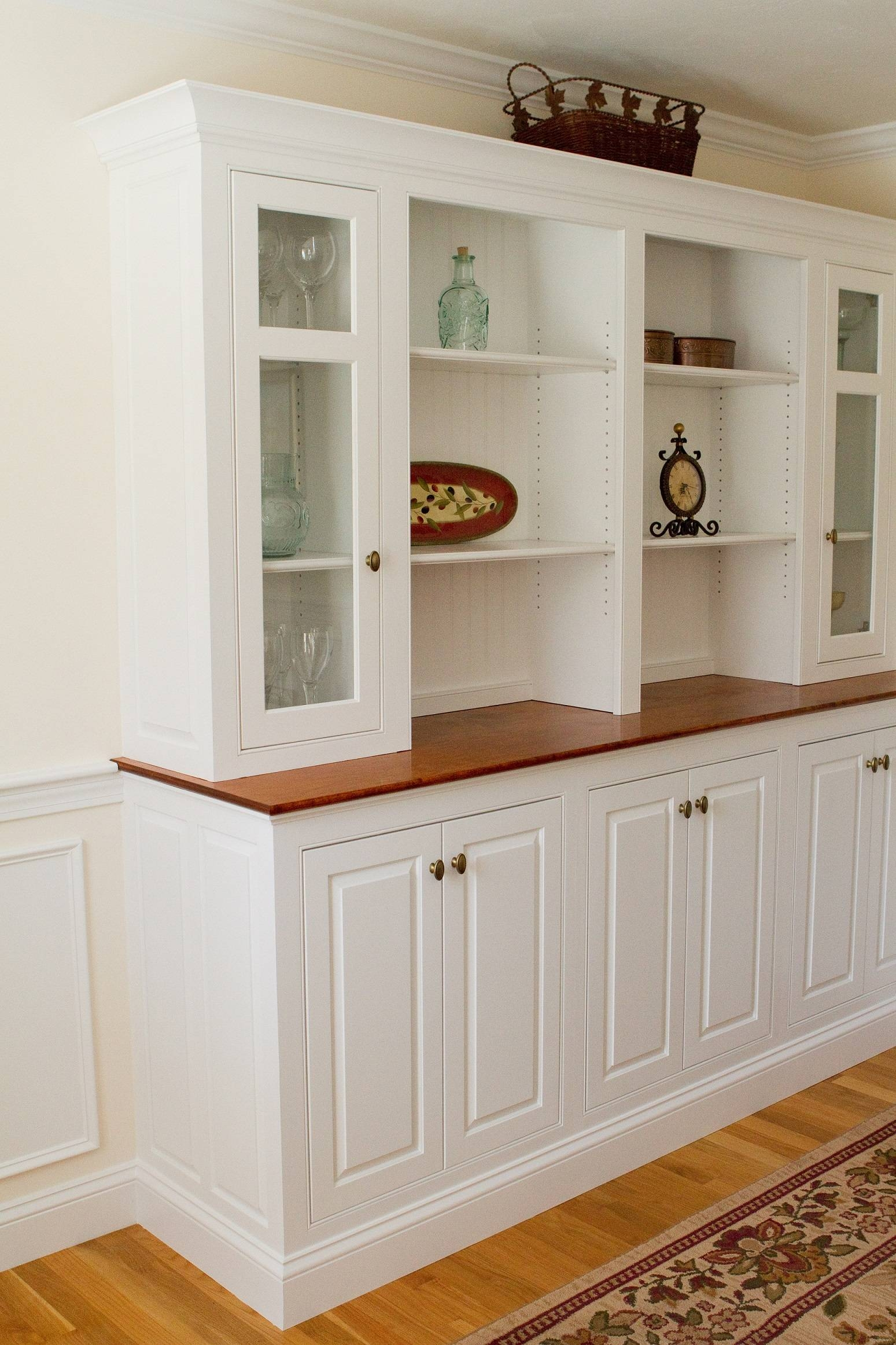 Kitchen Server Cabinet Antique White Buffet Server Long Thin Intended For Long Thin Sideboards (Photo 11 of 15)