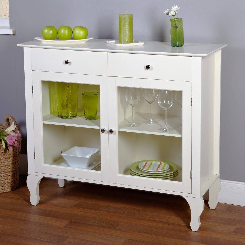 Kitchen Server Cabinet Antique White Buffet Server Long Thin with regard to Thin White Sideboards (Image 6 of 15)