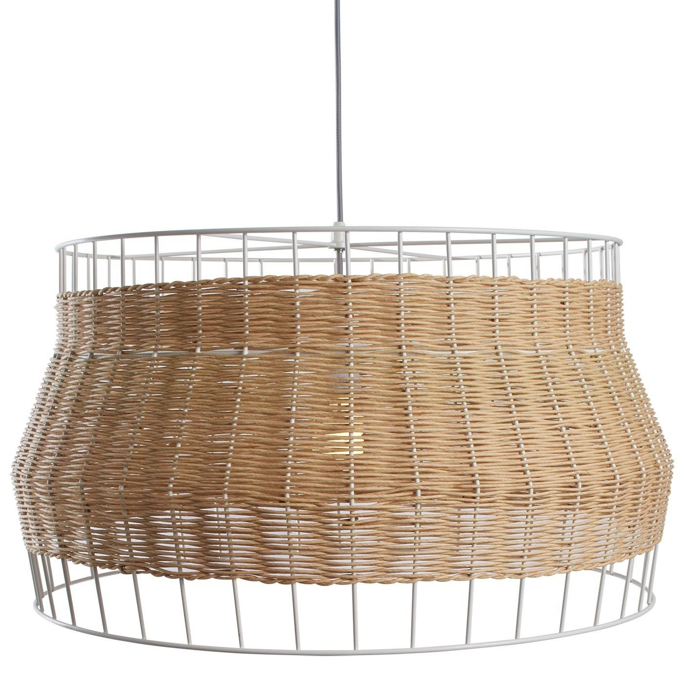 Laika Large Pendant Light - Rattan Pendant Light | Blu Dot inside Natural Pendant Lights (Image 7 of 15)