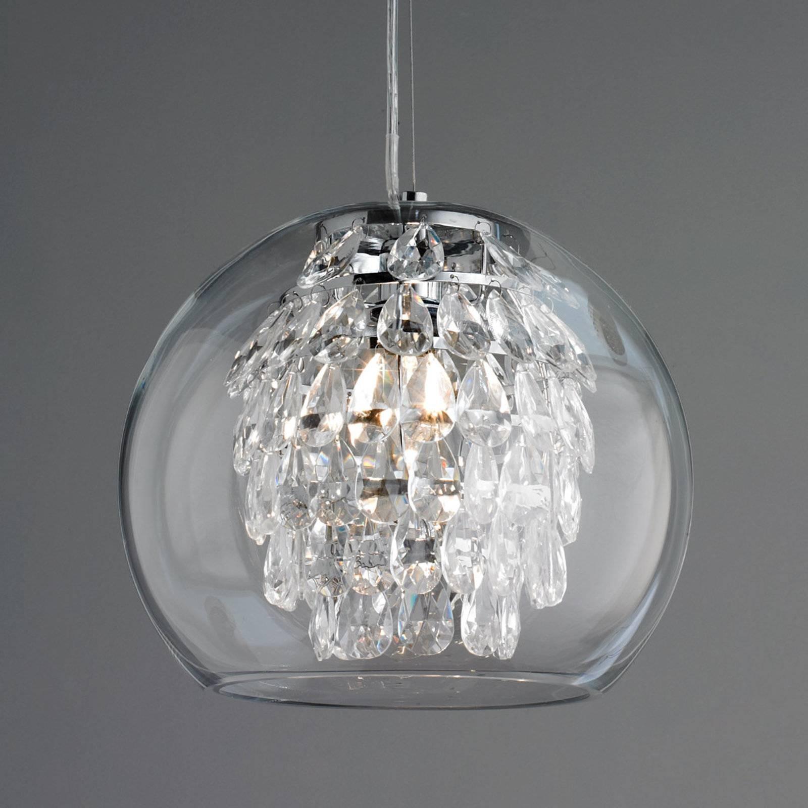 Lamp : Glass Sphere Chandelier Large Glass Globe Pendant Light Fan Pertaining To Glass Ball Pendant Lights (View 9 of 15)