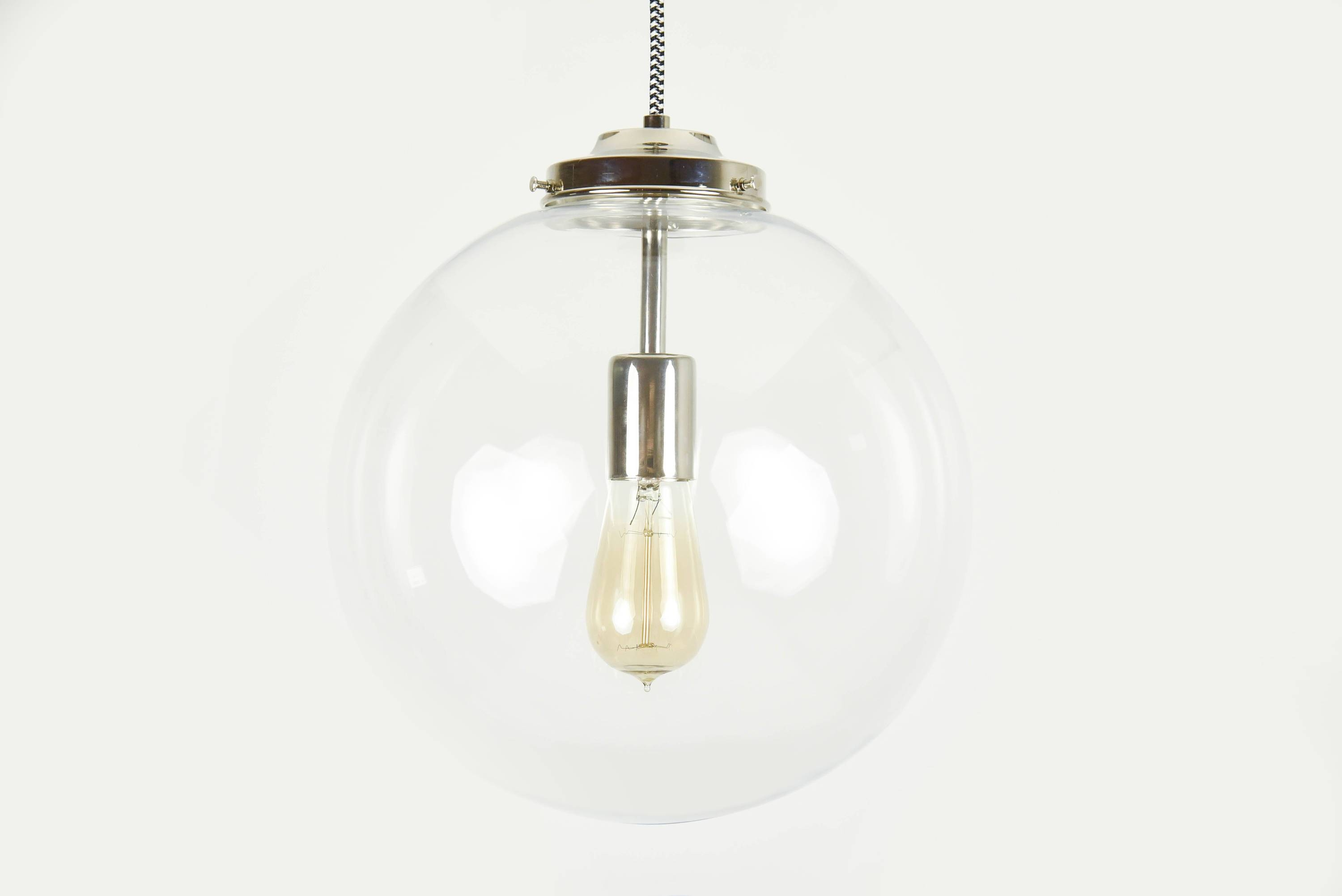 Lamp : Light Dining Glass Hanging Light Fixtures Red Pendant inside Round Glass Pendant Lights (Image 8 of 15)