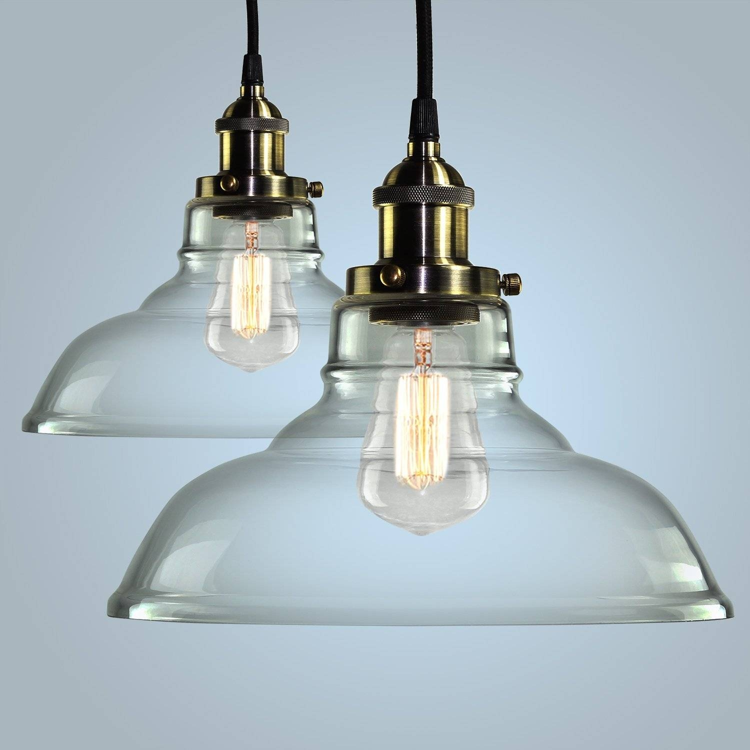 Lamp : Star Pendant Light Glass Pendant Lights For Kitchen Island regarding Industrial Glass Pendant Lights (Image 9 of 15)