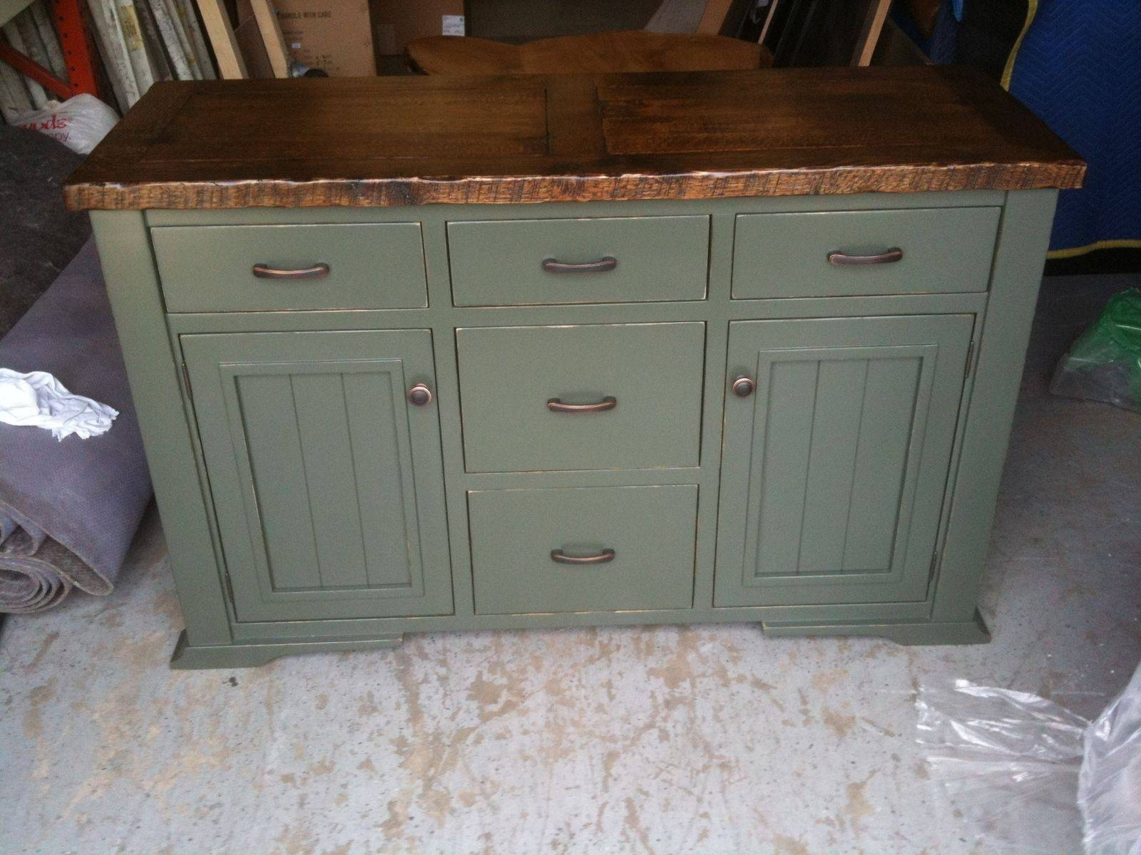 Landon Distressed White Sideboard Storage Cabinet Traditional throughout Painted Sideboards and Buffets (Image 7 of 15)