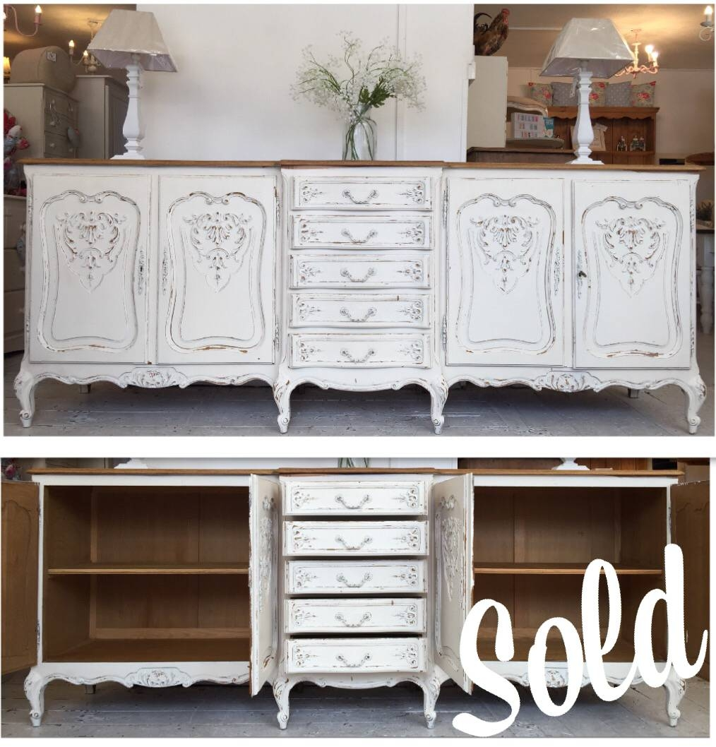 Large Breakfront Shabby Chic Buffet Unit – Home Sweet Homehome Pertaining To Shabby Chic Sideboards (View 6 of 15)