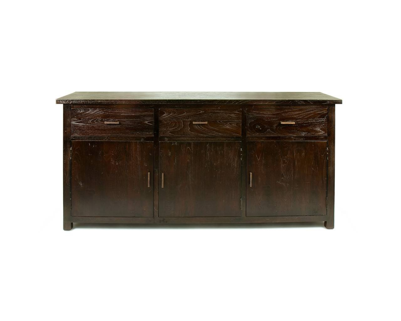 Large Dark Teak Sideboard – Reclaimed Wood Contemporary Furniture Pertaining To Dark Wood Sideboards (View 9 of 15)