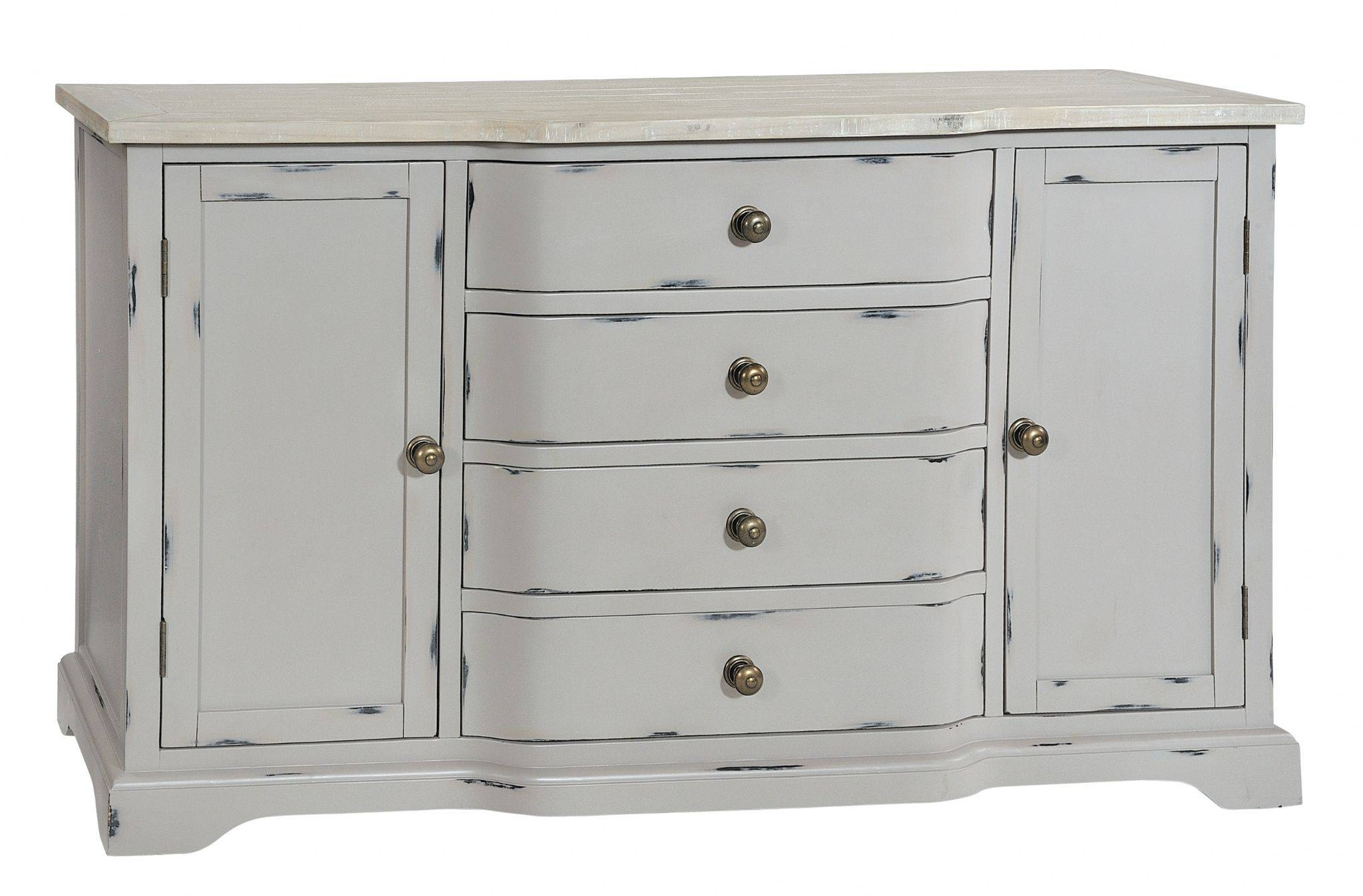 Large Grey Shabby Chic Sideboard – Bovary With Shabby Chic Sideboards (View 7 of 15)