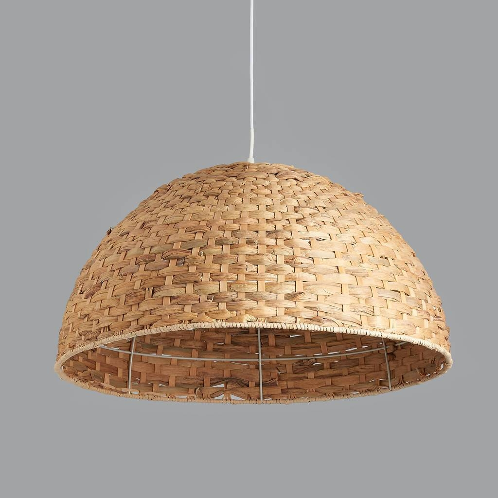 Large Seagrass Dome Pendant Lighthorsfall & Wright In Natural Pendant Lights (View 8 of 15)