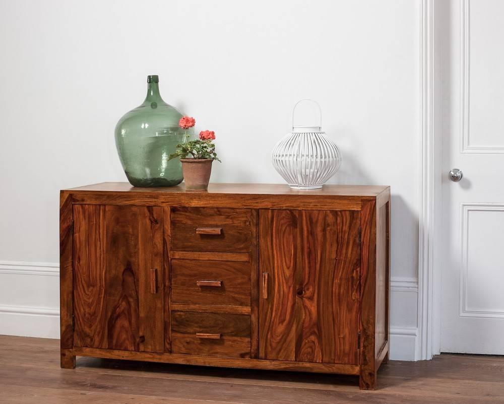 Large Solid Wood Sideboard | Casa Bella Sheesham Indian Furniture throughout Indian Sideboard Furniture (Image 10 of 15)