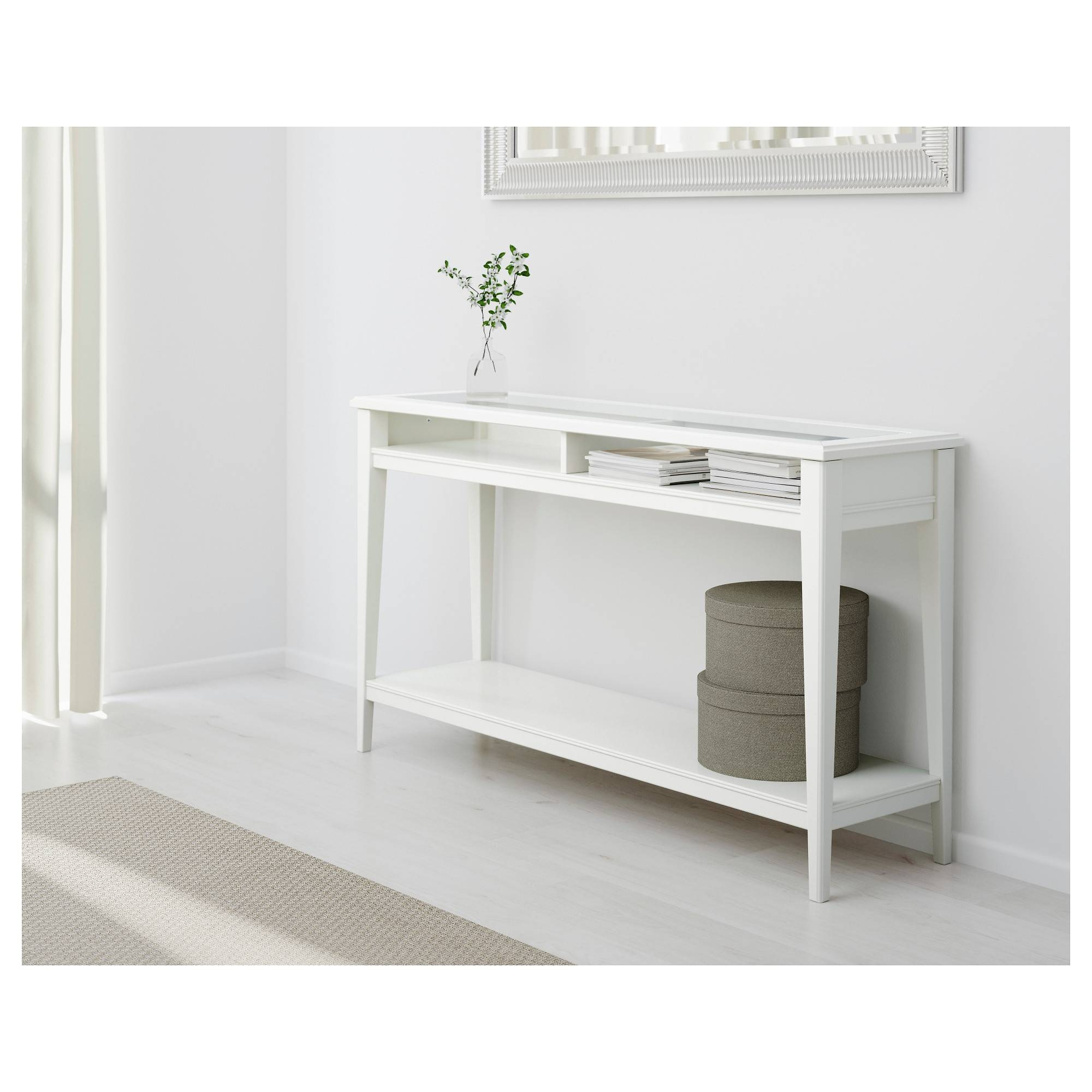 Liatorp Console Table White/glass 133X37 Cm - Ikea in Liatorp Sideboards (Image 7 of 15)