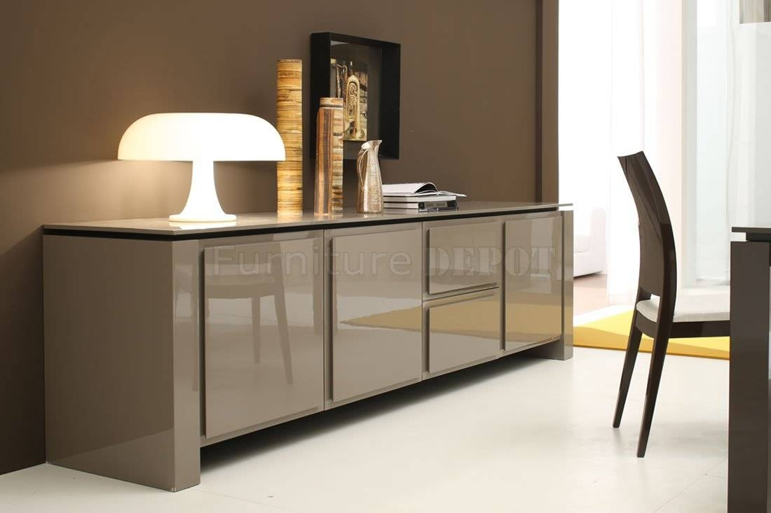 Light Brown Contemporary Sideboard Cabinet : Best Contemporary throughout Modern Sideboards And Buffets (Image 8 of 15)