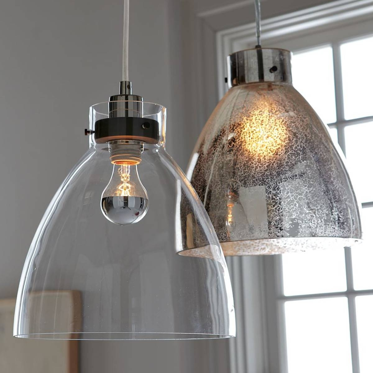 Light : Media Nl Industrial Glass Pendant Light Mercury West Elm pertaining to Industrial Glass Pendant Lights (Image 10 of 15)