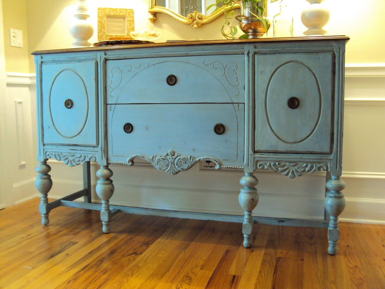 Light Of The Home: My Louis Blue Chalk Paint Buffet With Regard To Chalk Painted Sideboards (View 10 of 15)