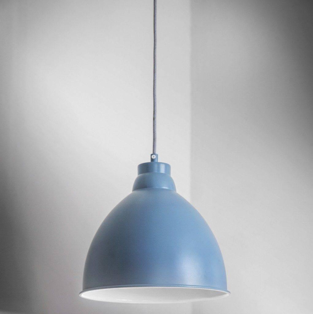 Lighting Design Ideas : Blue Pendant Light Simple Design Modern in Blue Pendant Lights (Image 12 of 15)