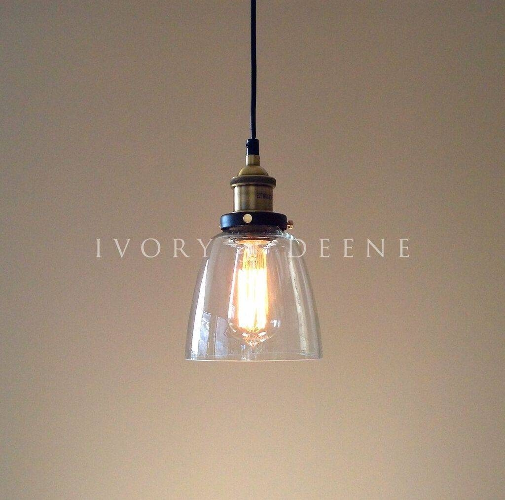 Lighting: Intriguing Cylinder Clear Glass Pendant Lighting Ideas With Clear Glass Mini Pendant Lights (View 12 of 15)