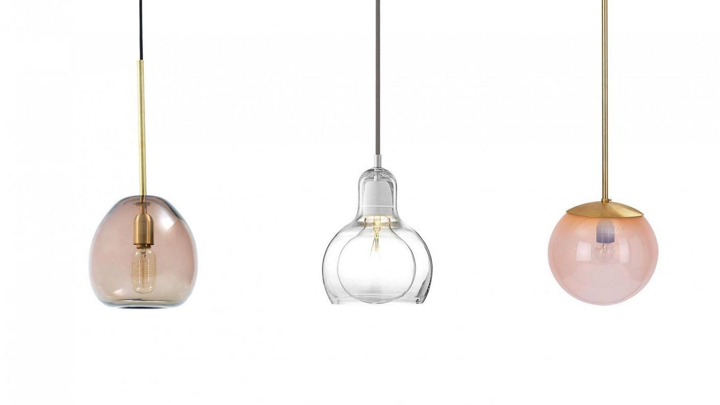 Lighting & Lamp: Glass Pendant Lights Best Buy With 3 Different pertaining to Round Glass Pendant Lights (Image 9 of 15)