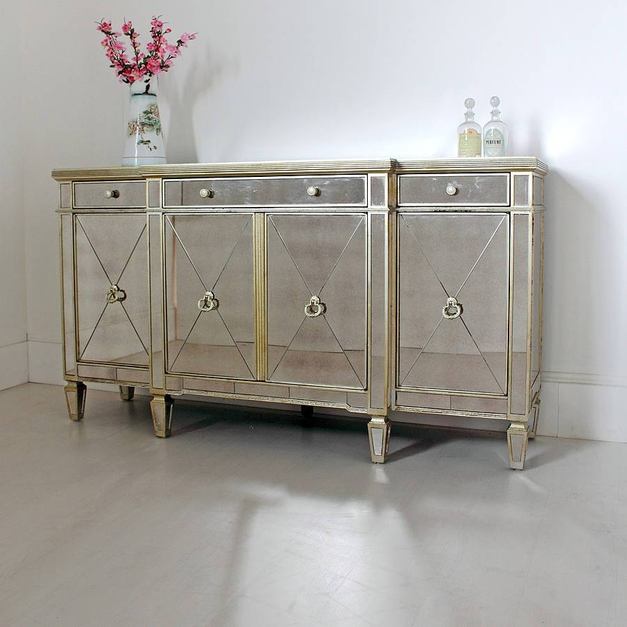 Long Antique Mirrored Sideboard — All About Home Design : Mid With Regard To Mirror Sideboards (View 4 of 15)