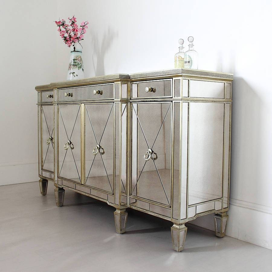 Long Antique Mirrored Sideboardout There Interiors throughout Mirrored Buffet Sideboards (Image 7 of 15)