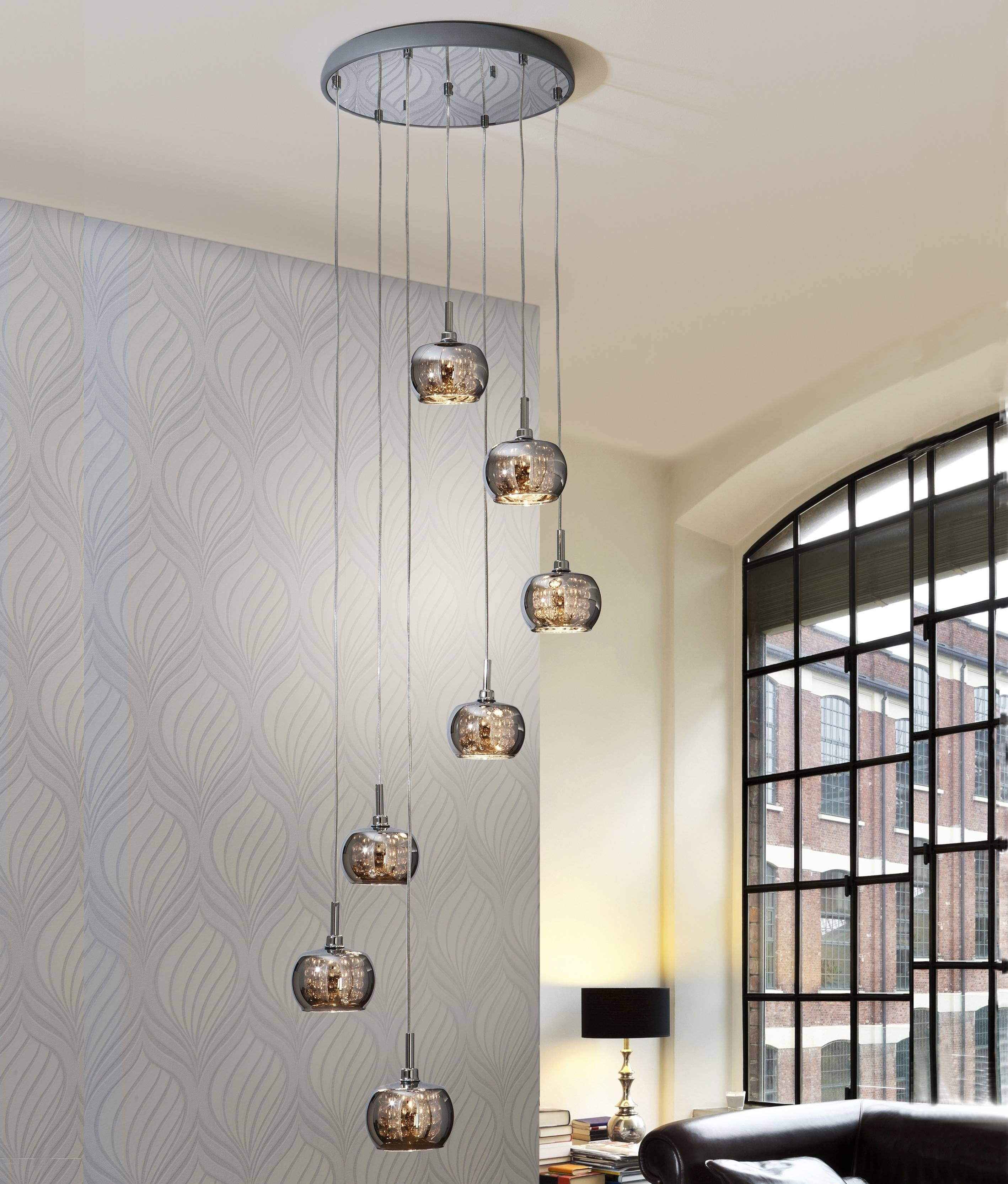 Long Drop Led Smoked Glass Pendant Pertaining To Long Pendant Lighting (View 8 of 15)