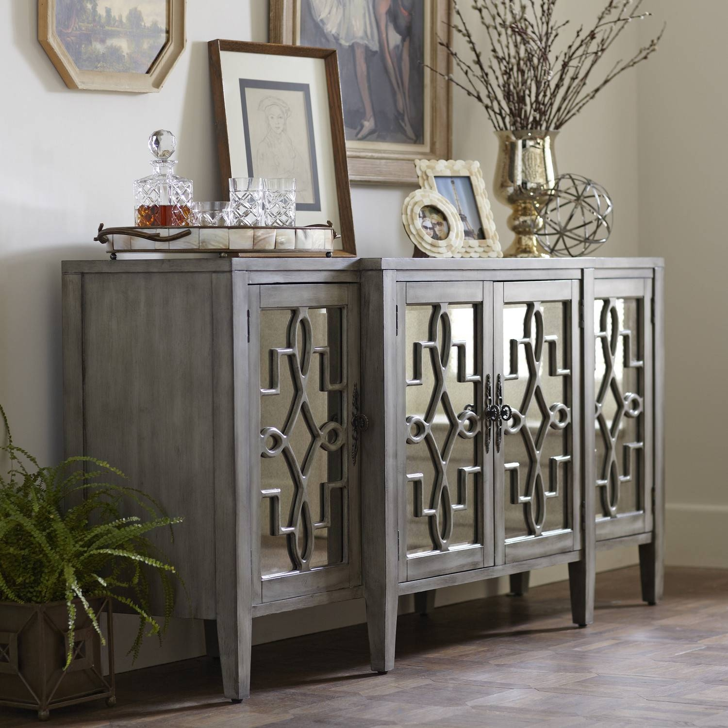 Lovely Mirrored Buffet Sideboard - Bjdgjy regarding Mirrored Buffet Sideboards (Image 10 of 15)