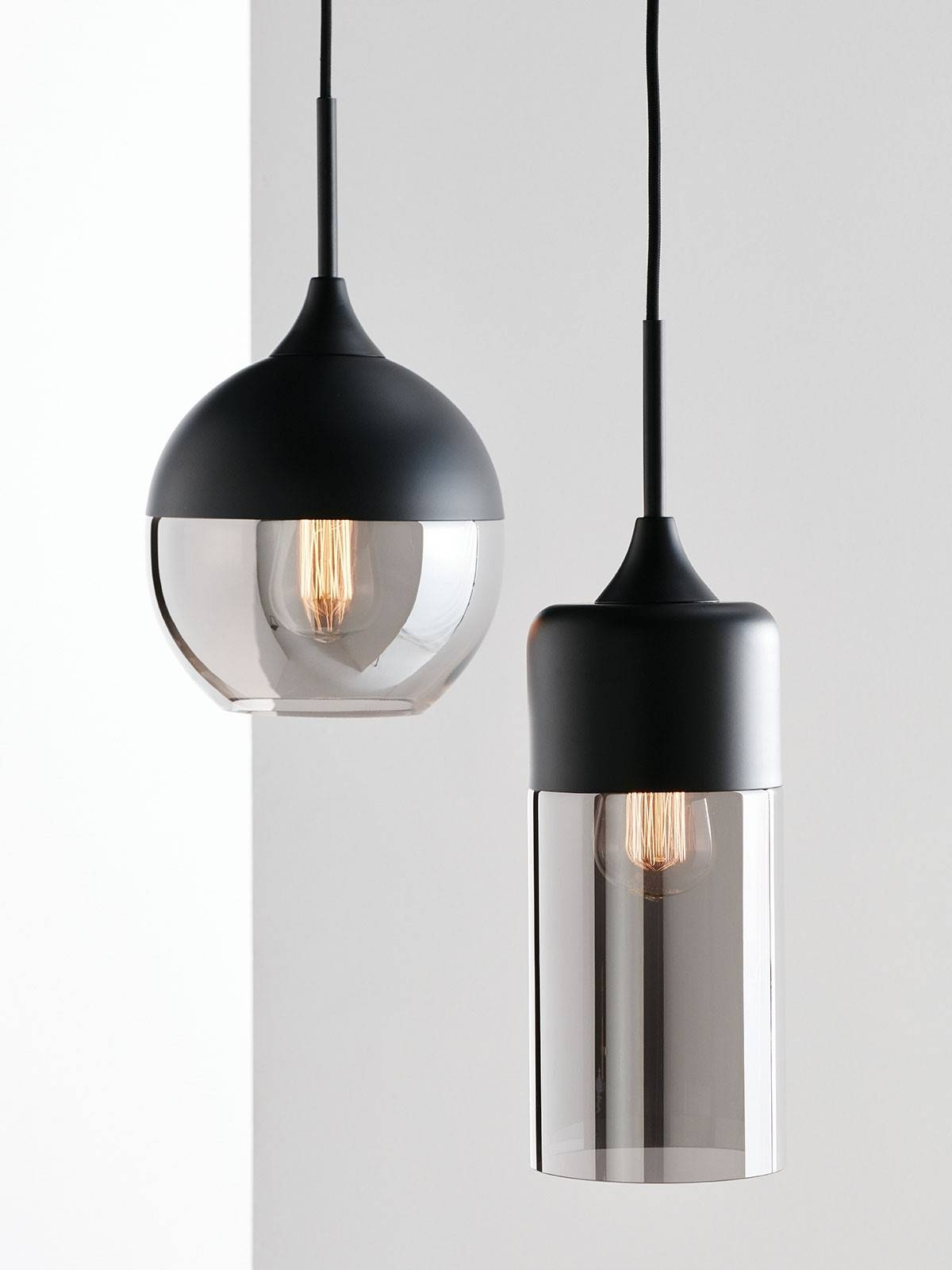 Lunar 1 Light Small Cylinder Pendant In Black/smoke Throughout Cylinder Pendant Lights (View 14 of 15)