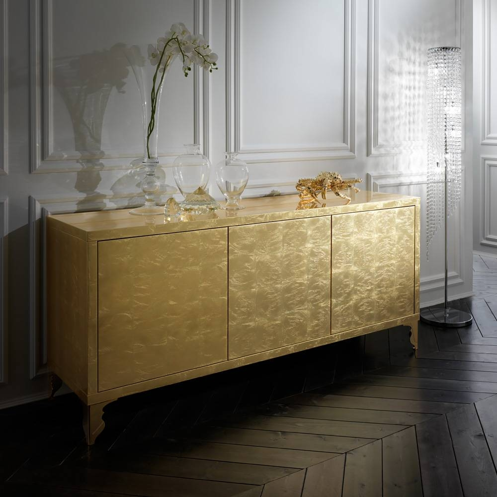 Luxury Sideboards & Cabinets – Exclusive High End Designer Sideboards Regarding Gold Sideboards (View 3 of 15)