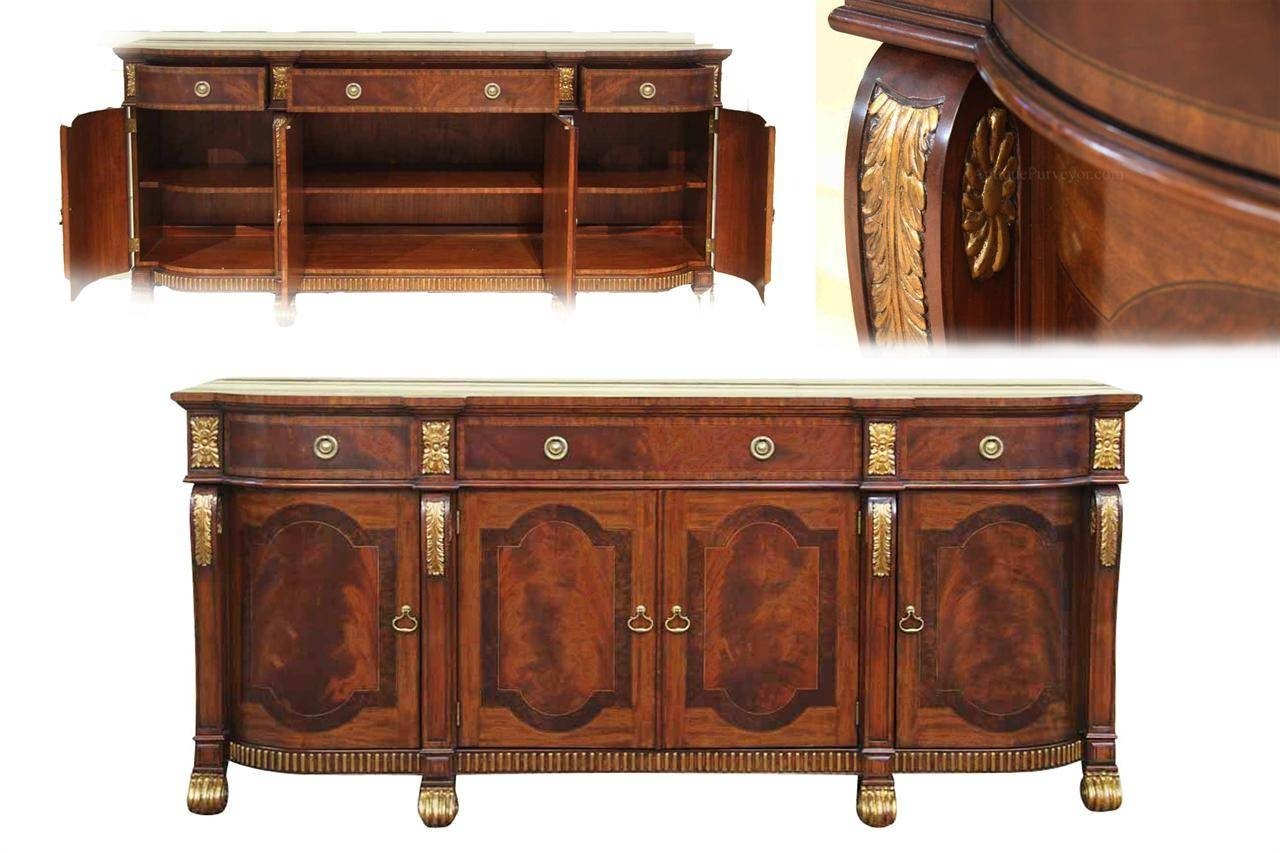 Mahogany Sideboard With Gold Leaf Accents For The Dining Room with regard to Sideboard Buffet Tables (Image 12 of 15)