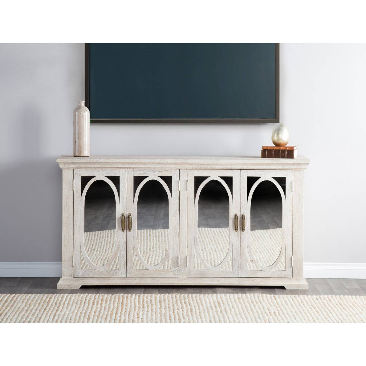 Manchester Wood Mirrored 70-Inch Sideboardkosas Home - Free regarding 70 Inch Sideboards (Image 7 of 15)