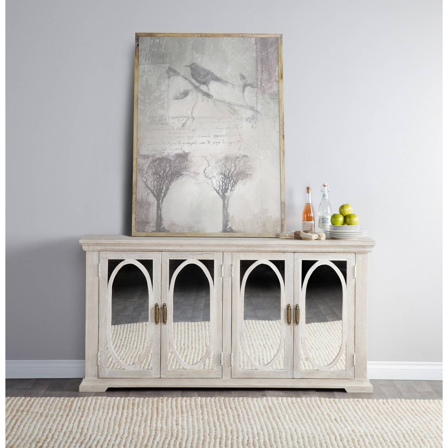 Manchester Wood Mirrored 70-Inch Sideboardkosas Home - Free throughout 70 Inch Sideboards (Image 8 of 15)