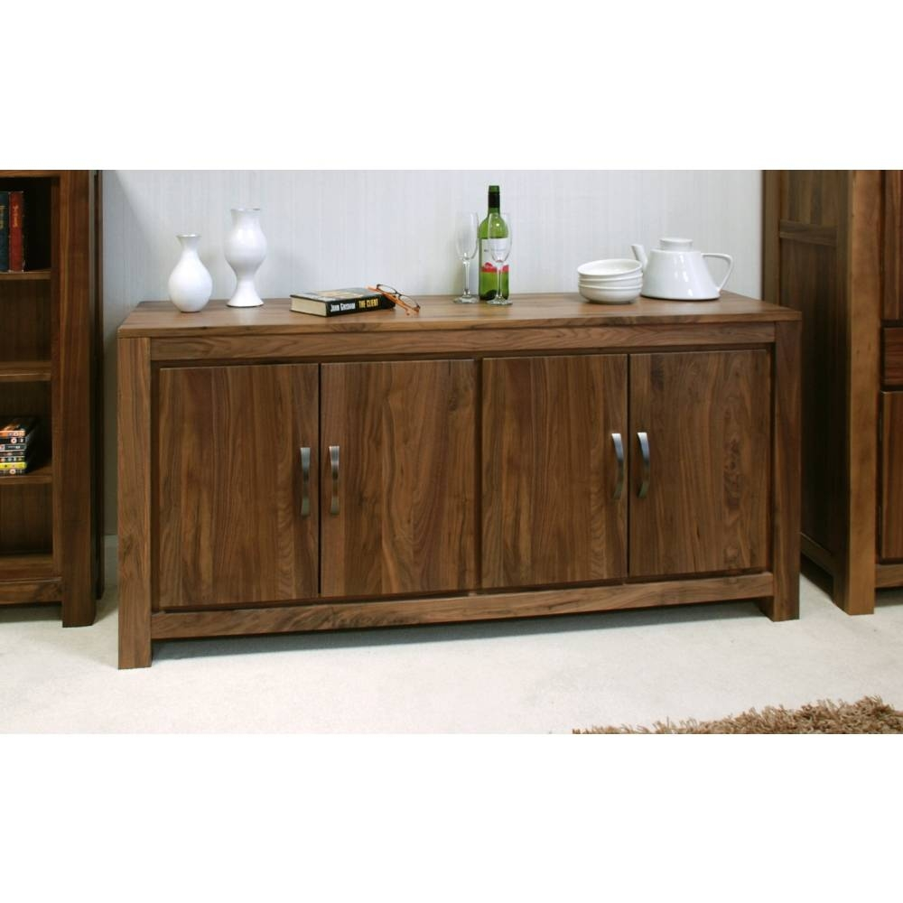 Mayan Large Low Living Dining Room Sideboard Solid Walnut Dark in Dark Wood Sideboards (Image 9 of 15)