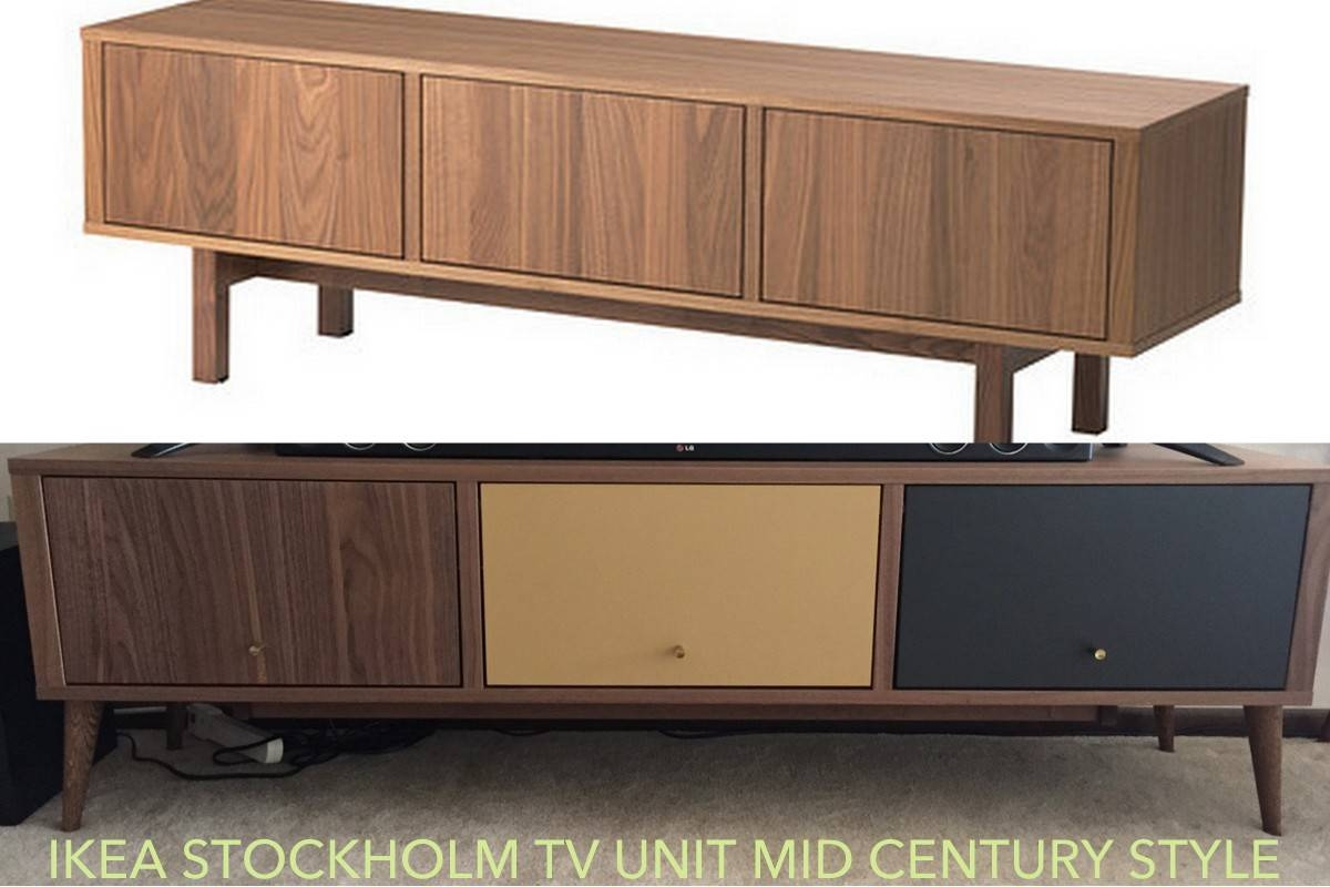 Mesmerizing Mid Century Tv Stand Home Media Ideas Together With with Ikea Stockholm Sideboards (Image 6 of 15)